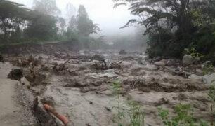 Cusco: lluvias ocasionan huaicos y bloqueo de vías en La Convención