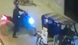 """Santa Anita: delincuentes roban mototaxi con la modalidad del """"trencito"""""""