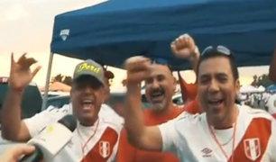 Así vibró la hinchada peruana previo al partido amistoso en Miami