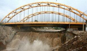 Puente del Ejercito es declarado en emergencia ante eventual crecida del río Rímac