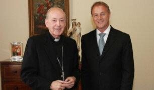 Jorge Muñoz se reunió con el cardenal Juan Luis Cipriani