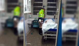 Piura: agente policial auxilió a niña que cayó de quinto piso