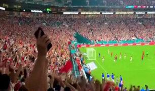 Los goles de Perú desde la hinchada
