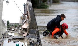 """Francia: al menos 13 muertos deja el paso de la tormenta """"Leslie"""""""