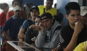 Venezolanos tendrán que presentar nuevamente pasaporte para ingresar al Perú