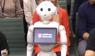 Reino Unido: robot habló sobre la inteligencia artificial en el Parlamento