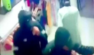 Chincha: cámara capta violento asalto en tienda de ropa