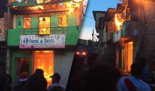 Iquitos: incendio destruye cuatro viviendas en la zona baja de Belén