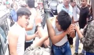 Chiclayo: vecinos dan golpiza a sujeto acusado de haber asaltado a una joven