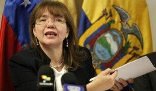 Gobierno de Ecuador expulsa a la Embajadora de Venezuela del país
