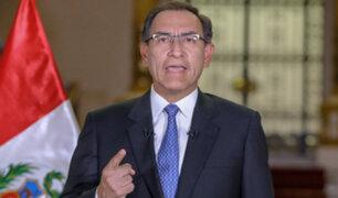 Presidente Vizcarra califica de 'irresponsables' a quienes difunden falsos rumores de golpe de Estado