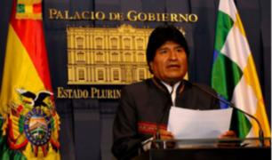 Evo Morales expresa solidaridad con Perú y ofrece ayuda tras sismo