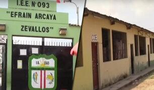 Tumbes: escolares corren riesgo en colegio que esta apunto de derrumbarse en Zarumilla