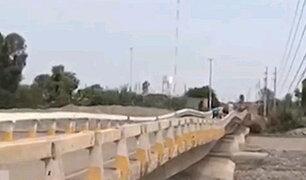"""Chincha: puente destruido a causa del fenómeno """"El Niño"""" aún sigue sin ser reparado"""