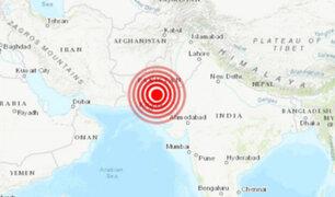 Terremoto de 6.7 grados de magnitud remece Pakistán