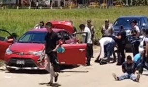 Moyobamba: frustran asalto en garita de peaje del poblado de Marona