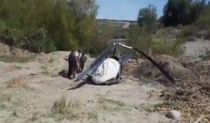 Helicóptero cae y soldados salvan de morir en Moquegua