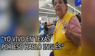 Empleada hispana pide hablar en inglés a salvadoreño por estar en territorio estadounidense