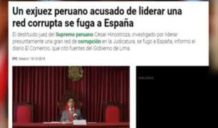 Medios españoles reaccionaron a captura de Hinostroza