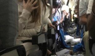 Quince personas resultaron heridas durante turbulencia en pleno vuelo