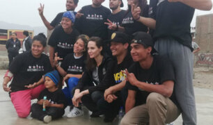 Angelina Jolie recorre San Juan de Lurigancho para conocer situación de venezolanos