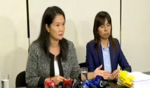 Keiko Fujimori denuncia que le están privando el derecho a tener un juez imparcial