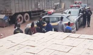 Chorrillos: capturan a banda que robó un camión cargado de productos lácteos