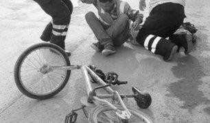 Cusco: puerta abierta de camión golpea a ciclista y lo deja herido