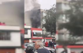Reportan incendio en vivienda ubicada en San Borja