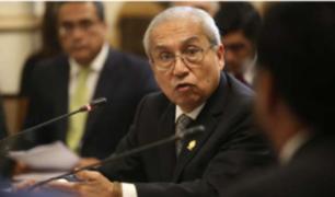 Fiscal de la Nación se presentó ante la Comisión de Justicia por caso Hinostroza