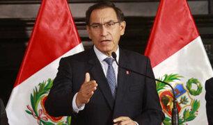 Presidente Martín Vizcarra niega persecución política en el Perú