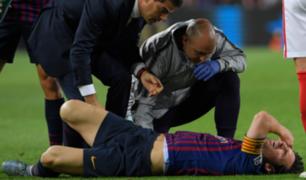 Lionel Messi comenzó su recuperación tras fuerte lesión en brazo derecho
