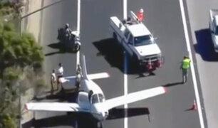 EEUU: avioneta aterrizó de emergencia en autopista de California