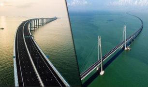 China: inauguran el puente más largo del mundo sobre el mar