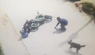 Cusco: motociclista convulsiona tras embestir a peatón en transitada vía