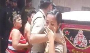 Tumbes: rompen nariz a mujer policía durante desalojo