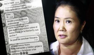 """IDL-Reporteros difunde nuevas imágenes del chat de Fuerza Popular denominado """"La Botica"""""""