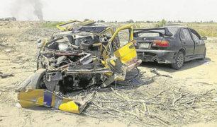 Lambayeque: dos personas fallecieron tras accidente vehicular