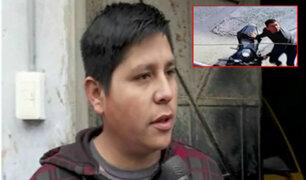 SJM: habla víctima de robo de motocicleta