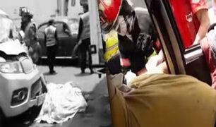 Los Olivos: conductor de un camión murió luego de ser arrollado por miniván