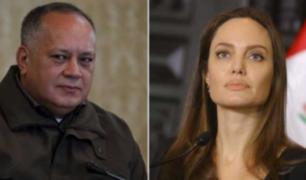 Venezuela: Diosdado Cabello vuelve a arremeter contra Angelina Jolie