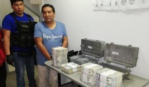 Tingo María: detiene a sujeto que llevaba 780 mil dólares a Lima