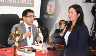 Continúa audiencia de prisión preventiva contra lideresa de Fuerza Popular