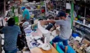 Cámaras registran violento asalto armado en Jaén