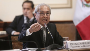 Pedro Chávarry no descartó acudir a la citación del fiscal José Domingo Pérez