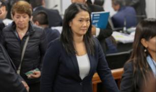 Keiko Fujimori acudió a audiencia y afirmó que es importante escuchar mentiras del fiscal