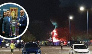 Helicóptero del dueño del Leicester City se estrelló e incendió