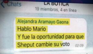 Congresistas se pronunciaron tras difusión de nuevo chat de 'La Botica'