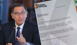 Bancada de Fuerza Popular solicita una reunión al presidente Martín Vizcarra