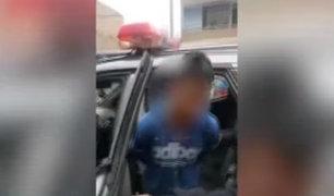 SJL: detienen a adolescente que intento asaltar a escolar